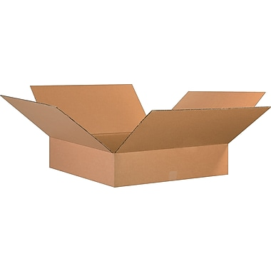 26in.(L) x 26in.(W) x 6in.(H)- Staples Corrugated Shipping Boxes, 10/Bundle