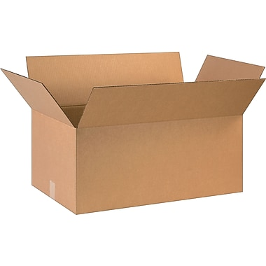 28in.(L) x 16in.(W) x 12in.(H)- Staples Corrugated Shipping Boxes, 10/Bundle