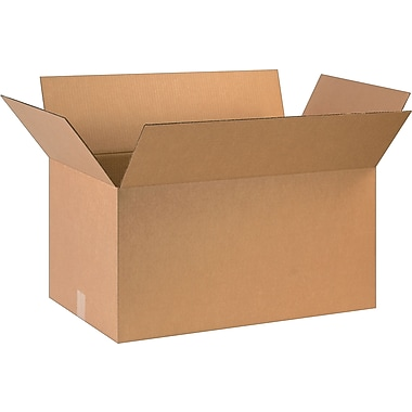 28in.(L) x 16in.(W) x 14in.(H)- Staples Corrugated Shipping Boxes, 15/Bundle