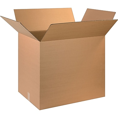28in.(L) x 5in.(W) x 24in.(H) - Staples® Corrugated Shipping Boxes, 10/Bundle