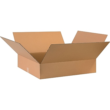 28in.(L) x 24in.(W) x 6in.(H)- Staples Corrugated Shipping Boxes, 10/Bundle