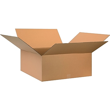 28in.(L) x 28in.(W) x 12in.(H)- Staples Corrugated Shipping Boxes, 10/Bundle