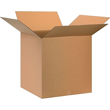 28in.(L) x 28in.(W) x 28in.(H)- Staples Corrugated Shipping Boxes, 5/Bundle