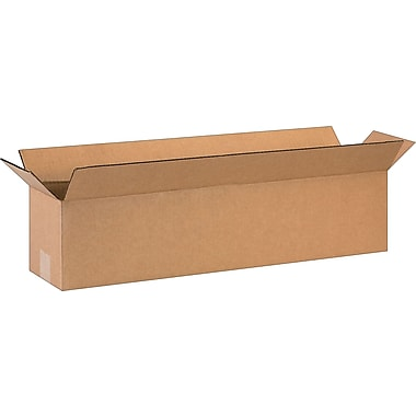 28in.(L) x 6in.(W) x 6in.(H)- Staples Corrugated Shipping Boxes, 20/Bundle