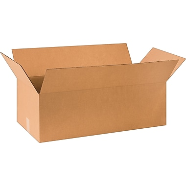 30in.(L) x 14in.(W) x 10in.(H) - Staples Corrugated Shipping Boxes