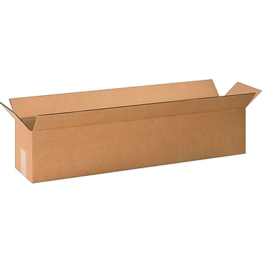30in.(L) x 6in.(W) x 6in.(H) - Staples Corrugated Shipping, 25/Bundle