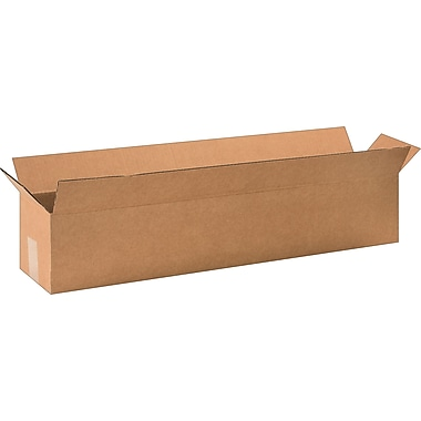 32in.(L) x 6in.(W) x 6in.(H) - Staples Corrugated Shipping Boxes, 25/Bundle