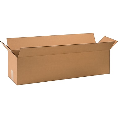 32in.(L) x 8in.(W) x 8in.(H) - Staples Corrugated Shipping Boxes, 25/Bundle