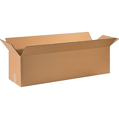 36in.(L) x 10in.(W) x 10in.(H) - Staples Corrugated Shipping Boxes, 20/Bundle