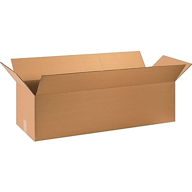36in.(L) x 12in.(W) x 10in.(H) - Staples Corrugated Shipping Boxes, 15/Bundle