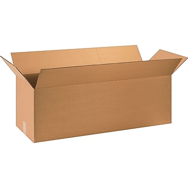 36in.(L) x 12in.(W) x 12in.(H) - Staples Corrugated Shipping Boxes, 15/Bundle