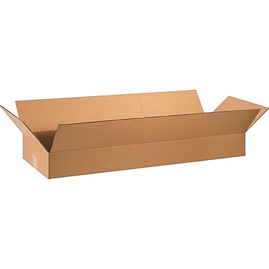 36in.(L) x 12in.(W) x 4in.(H) - Staples Corrugated Shipping Boxes, 20/Bundle