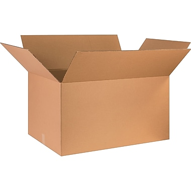 36in.(L) x 24in.(W) x 20in.(H) - Staples Corrugated Shipping Boxes, 5/Bundle