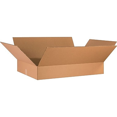 36in.(L) x 24in.(W) x 6in.(H) - Staples Corrugated Shipping Boxes, 10/Bundle
