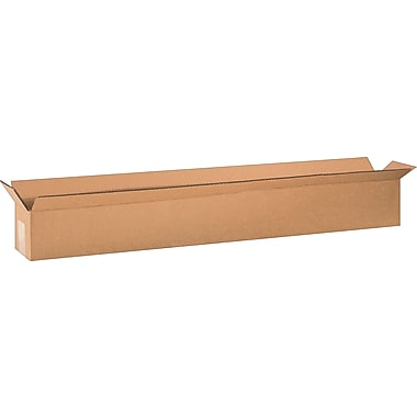36in.(L) x 4in.(W) x 4in.(H) - Staples Corrugated Shipping Boxes, 25/Bundle