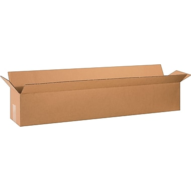 36in.(L) x 6in.(W) x 6in.(H) - Staples Corrugated Shipping Boxes, 25/Bundle