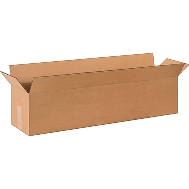 36in.(L) x 8in.(W) x 8in.(H) - Staples Corrugated Shipping Boxes, 25/Bundle