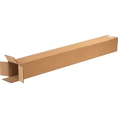 4in.(L) x 4in.(W) x 36in.(H) - Staples Corrugated Shipping Boxes, 25/Bundle