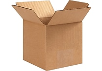 4'(L) x 4'(W) x 4'(H) - Staples® Corrugated Shipping Boxes, 25/Bundle