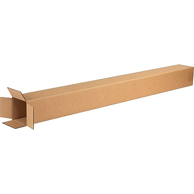 4in.(L) x 4in.(W) x 48in.(H) - Staples Corrugated Shipping Boxes, 25/Bundle