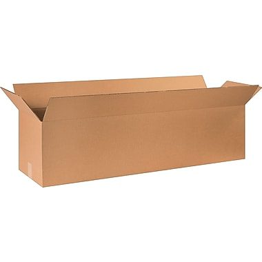 48in.(L) x 12in.(W) x 12in.(H) - Staples Corrugated Shipping Boxes, 10/Bundle
