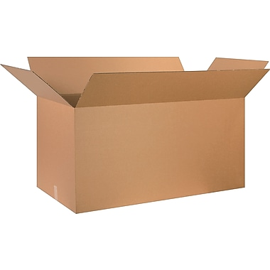 48in.(L) x 24in.(W) x 24in.(H) - Staples Corrugated Shipping Boxes, 10/Bundle