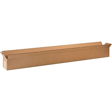 48in.(L) x 4in.(W) x 4in.(H) - Staples Corrugated Shipping Boxes, 25/Bundle
