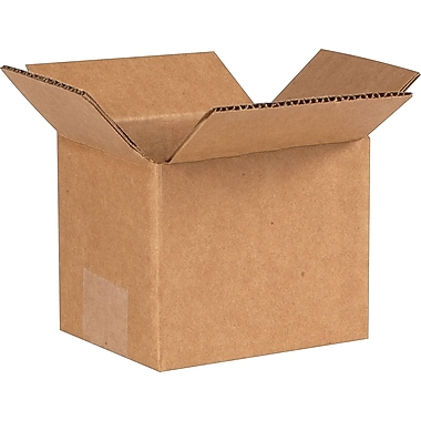 5in.(L) x 4in.(W) x 4in.(H) - Staples® Corrugated Shipping Boxes, 25/Bundle