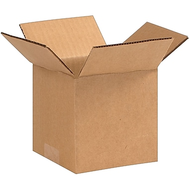05in.(L) x 5in.(W) x 5in.(H) - Staples® Corrugated Shipping Boxes, 25/Bundle