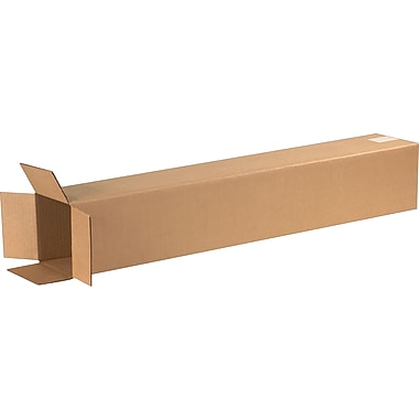 6in.(L) x 6in.(W) x 36in.(H) - Staples Corrugated Shipping Boxes, 25/Bundle