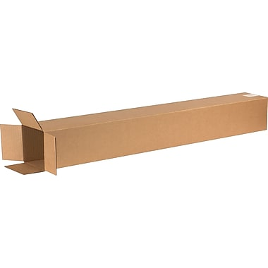 6in.(L) x 6in.(W) x 48in.(H) - Staples Corrugated Shipping Boxes, 25/Bundle