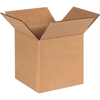 6in.(L) x 6in.(W) x 6in.(H)- Staples Corrugated Shipping Boxes, 25/Bundle