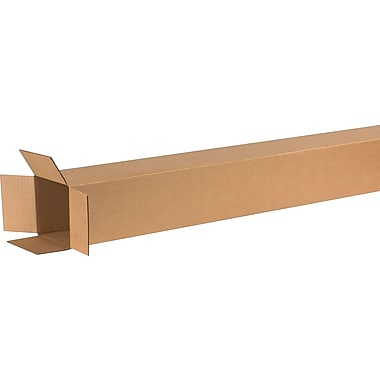 6in.(L) x 6in.(W) x 72in.(H) - Staples Corrugated Shipping Boxes, 15/Bundle