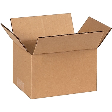 7in.(L) x 5in.(W) x 4in.(H) - Staples Corrugated Shipping Boxes, 25/Bundle