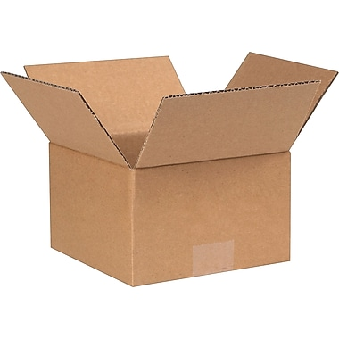 7in.(L) x 7in.(W) x 4 1/2in.(H) - Staples Corrugated Shipping Boxes, 25/Bundle