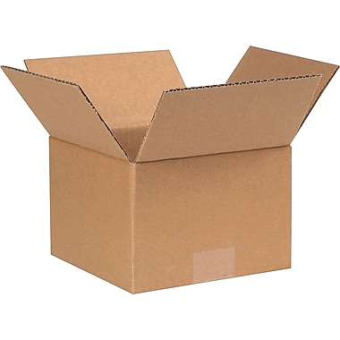 7in.(L) x 7in.(W) x5in.(H) - Staples Corrugated Shipping Boxes, 25/Bundle