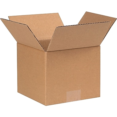 7in.(L) x 7in.(W) x 6in.(H) - Staples Corrugated Shipping Boxes, 25/Bundle