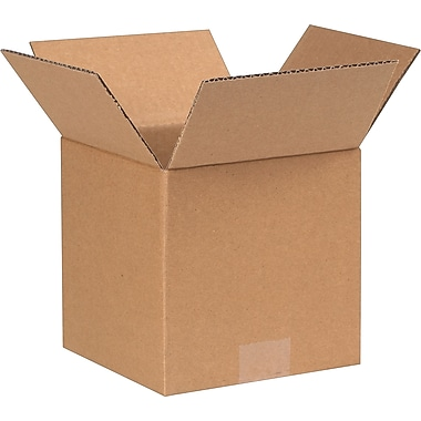 7in.(L) x 4in.(W) x 4in.(H) - Staples® Corrugated Shipping Boxes, 25/Bundle