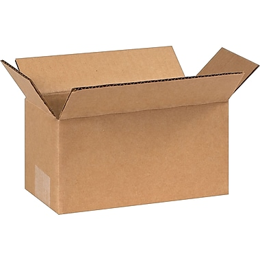 8in.(L) x 4in.(W) x 4in.(H) - Staples Corrugated Shipping Boxes, 25/Bundle