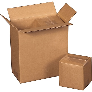 8 3/4in.(L) x 4 3/8in.(W) x 9 1/2in.(H) - Staples Corrugated Shipping Boxes, 25/Bundle