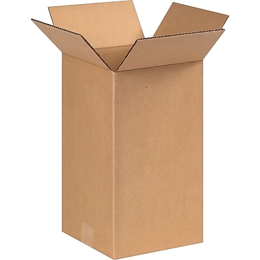 8in.(L) x 8in.(W) x 14in.(H) - Staples Corrugated Shipping Boxes