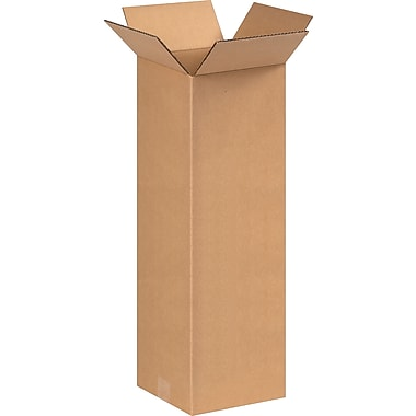 8in.(L) x 8in.(W) x 24in.(H) - Staples Corrugated Shipping Boxes
