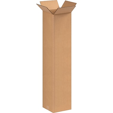 8in.(L) x 8in.(W) x 36in.(H) - Staples Corrugated Shipping Boxes