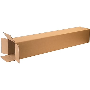 8in.(L) x 8in.(W) x 48in.(H) - Staples Corrugated Shipping Boxes, 20/Bundle