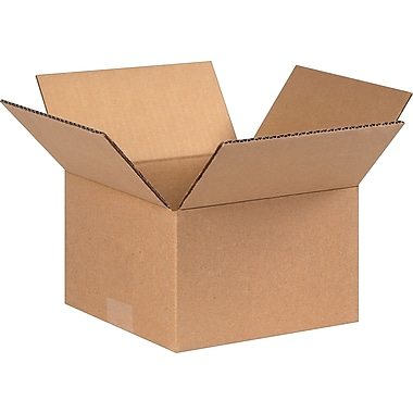 8in.(L) x 8in.(W) x 5in.(H) - Staples Corrugated Shipping Boxes, 25/Bundle
