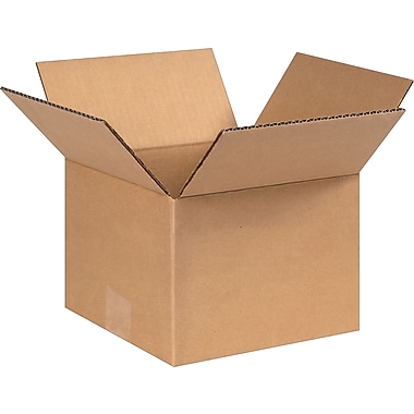 8in.(L) x 8in.(W) x 6in.(H)- Staples Corrugated Shipping Boxes