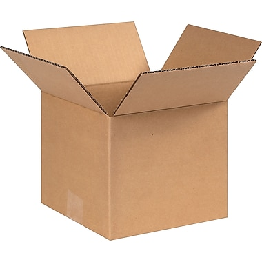 8in.(L) x 8in.(W) x 7in.(H) - Staples Corrugated Shipping Boxes