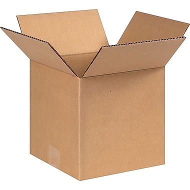 8in.(L) x 8in.(W) x 8in.(H) - Staples Corrugated Shipping Boxes, 25/Bundle