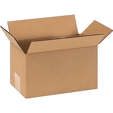 9in.(L) x 5in.(W) x 5in.(H) - Staples Corrugated Shipping Boxes, 25/Bundle