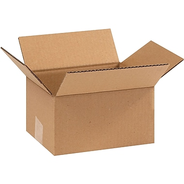 9in.(L) x 7in.(W) x 5in.(H) - Staples Corrugated Shipping Boxes, 25/Bundle